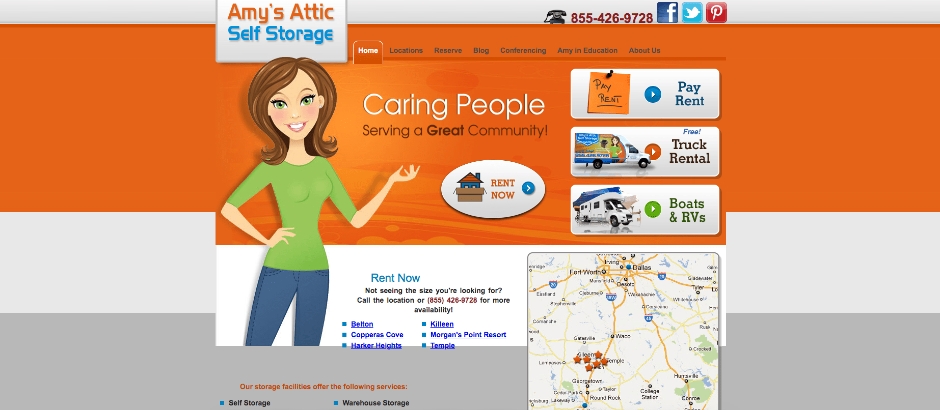 ace self storage old website