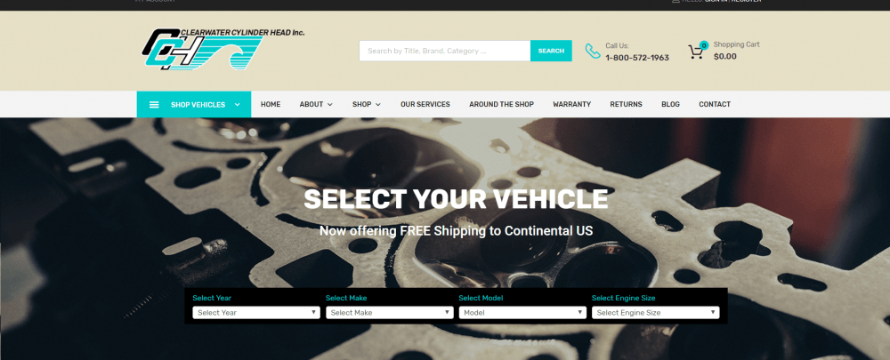 Websults Completes New Ecommerce Site for Nearby Clearwater Cylinder Head, LLC.