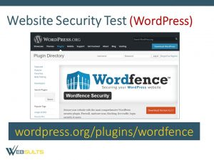 website security test wordpress
