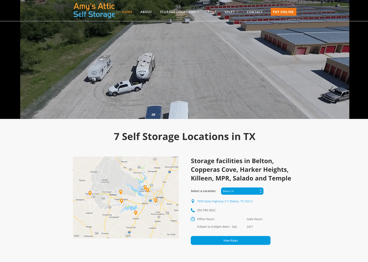 ace self storage new website