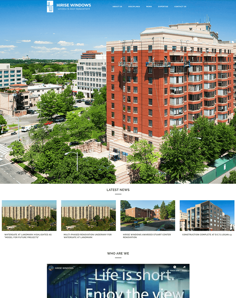 Hi-Rise Windows website