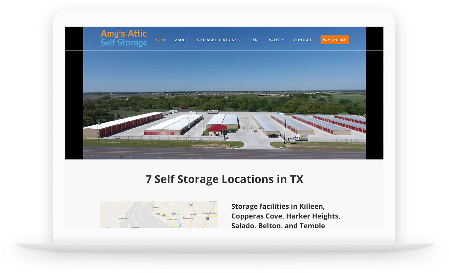 self storage optimized website