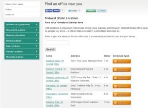 Midwest Dental Zip Code App
