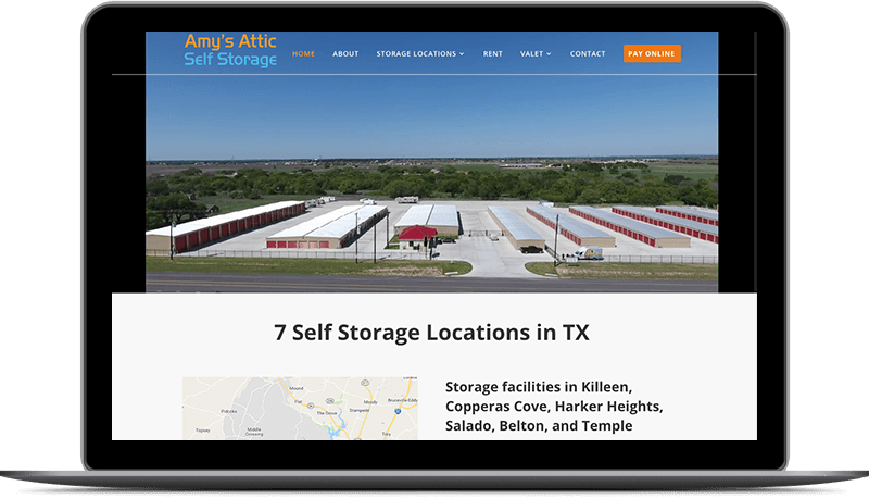 amys attic self storage website